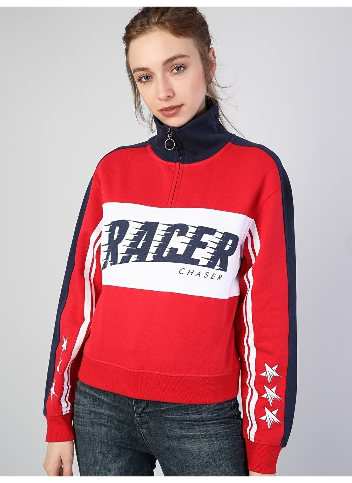 Colin's Sweatshirt Cl1041595 Kırmızı Kadın Sweatshirt – 49.95 TL